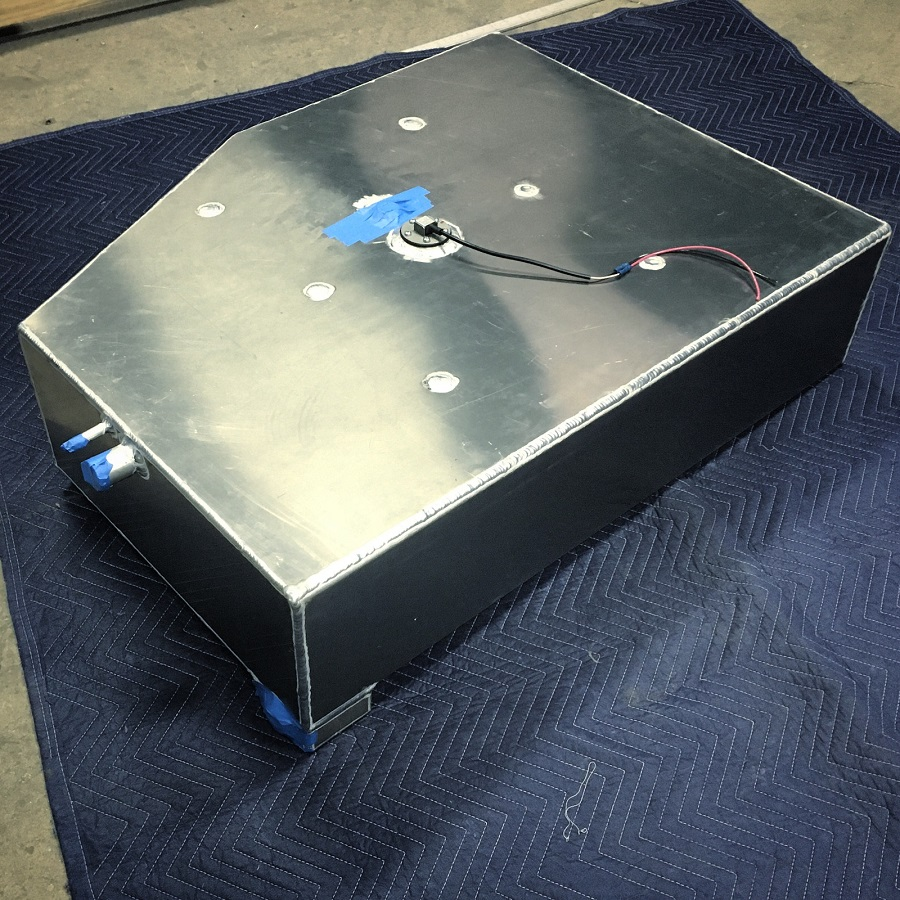 Custom Fuel Tank fabricated from Aluminum to Customer Specs